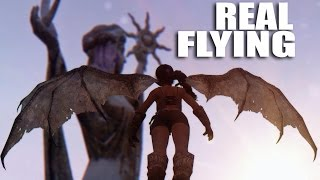 REAL FLYING (with DRAGON WINGS) - Skyrim Mods Watch