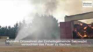 Heulager-Brand in Seeben