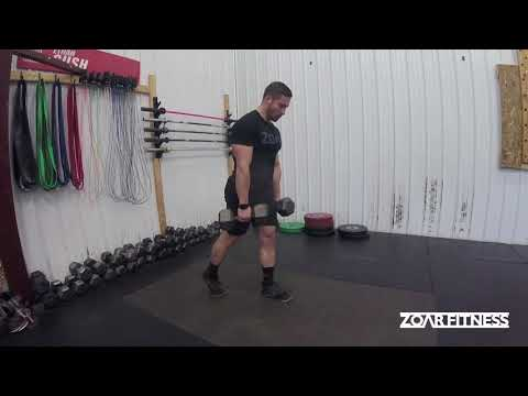 Staggered Stance Dumbbell RDL
