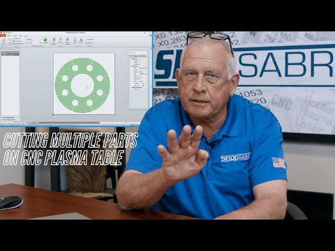 Cutting Multiple Parts on ShopSabre CNC Plasma Tablevideo thumb