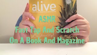 ASMR Fast Tap And Scratch On A Book And Magazine