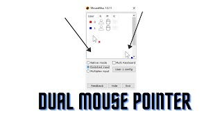 How to get two mouse pointers on windows?