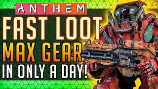 Anthem |  Fastest Way to Gear! Max Gear in a Day #Anthem