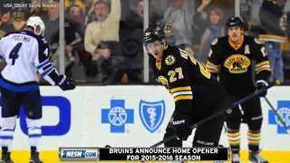 Boston Bruins To Play Winnipeg Jets In 2015-2016 Home Opener