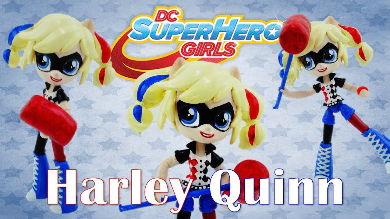 HARLEY QUINN Doll DC Super Hero Girls Suicide Squad Custom With MLP Equestria Girls Tutorial