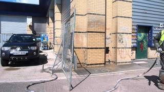 Graffiti Removal Using Dustless Blasting – After