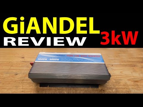 Giandel 3000W Pure Sine Wave Power Inverter  Review