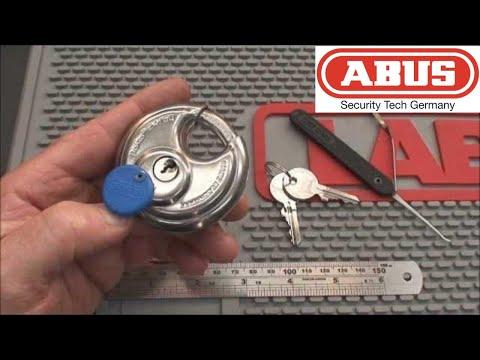 (41) Abus Diskus Model 24/60 Padlock Picked Open