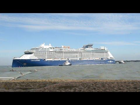 """سفينة """"سيليبرتي إيدج"""" تبحر من فرنسا إلى الولايات المتحدة"""