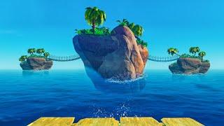 WE FOUND THE SECRET HIDDEN ISLANDS! - Raft #2