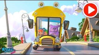 Колёса на Автобусе - Wheels On The Bus | Nursery Rhymes for Babies | Loo Loo Kids на русском!