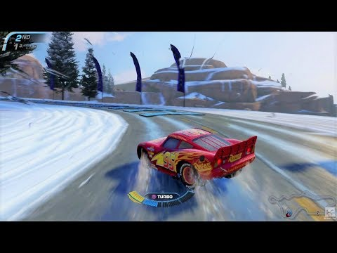 Cars 3 Lightning McQueen Racing On Christmas Race Track