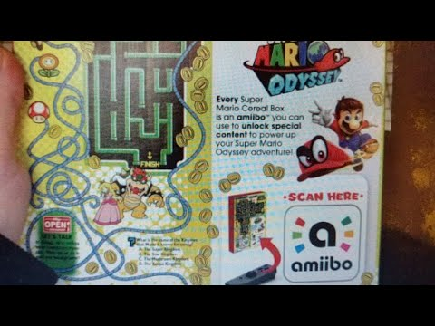 The Back of the Super Mario Cereal Box