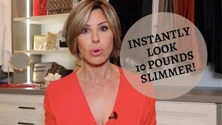 Simple Styling Tricks To INSTANTLY Look 10 Pounds Slimmer | Dominique Sachse