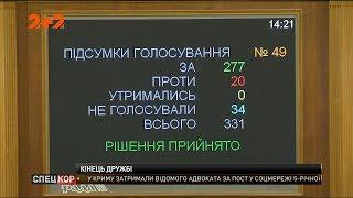 Верховна Рада підтримала припинення дії Великого договору про дружбу та співпрацю із Росією