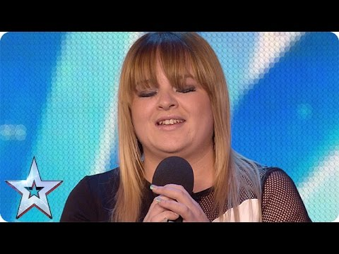Pub singer Jade Scott gets off to a shaky start | Audition Week 1 | Britain's Got Talent 2015 (видео)