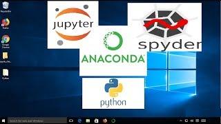 Install Anaconda Python, Jupyter Notebook And Spyder on Windows 10