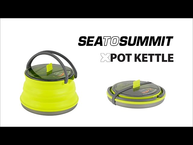 Видео Складной чайник с пластиковой крышкой и алюминиевым дном Sea To Summit X-Kettle 1,3 л
