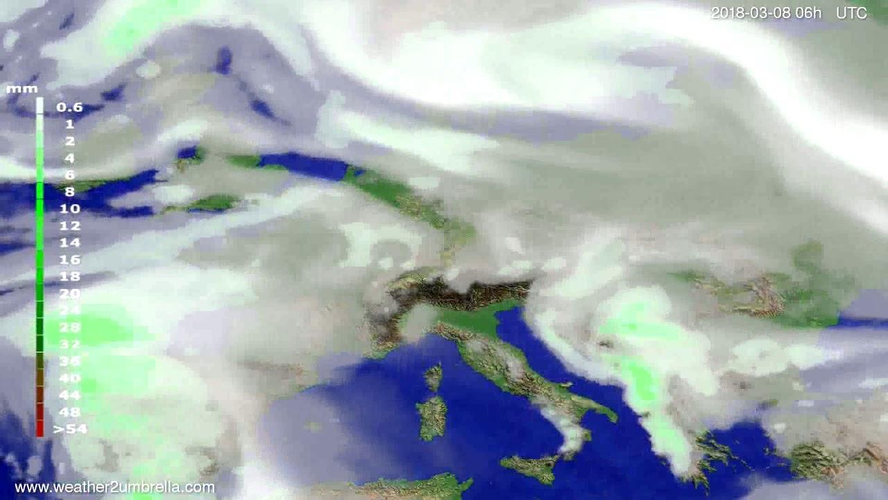 Precipitation forecast Europe 2018-03-05