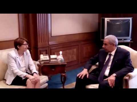 لقاء الوزير / طارق قابيل وسفيرة فنلندا الجديدة بالقاهرة