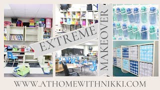 EXTREME CLASSROOM MAKEOVER  | How To Declutter And Setup A Classroom | Back To School 2019