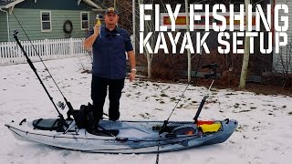 Fly Fishing Kayak Setup 2016 - Open Top 10.5 Foot Lightweight by Clearwater Designs