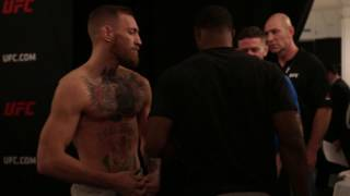 McGregor and Woodley Come Face to Face After Weigh Ins