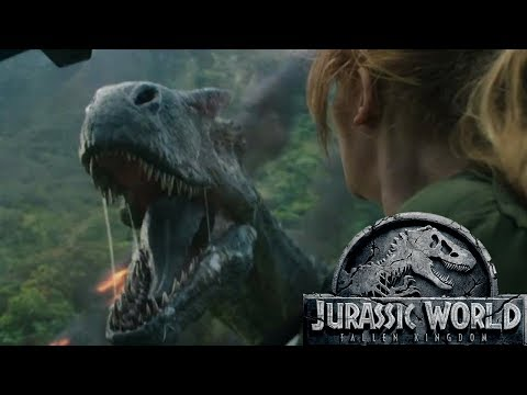 Jurassic World 2 Fallen Kingdom Trailer + Reaction! - REXY FIGHTS A CARNO!!