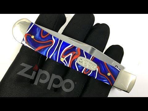 50511 Нож перочинный Zippo Patriotic Kirinite Smooth Trapper, 105 мм, синий