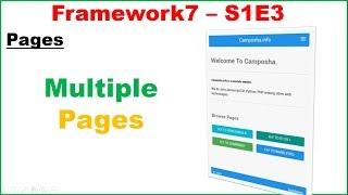 Framework7 S1E3 : Navigate Multiple Pages