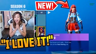 Pokimane Reacts To *NEW* SEASON 6 Battle Pass Level 100 MAX Tier (Fortnite)
