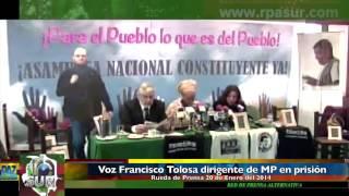 preview picture of video 'Voz de Francisco Tolosa dirigente de Marcha Patriótica en prisión quien habla desde la cárcel Picota'