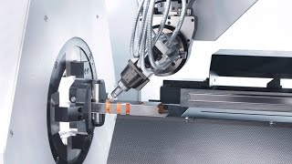 TRUMPF Laser Tube Cutting: TruLaser Tube 5000 - Bevel Cuts Up To 45°