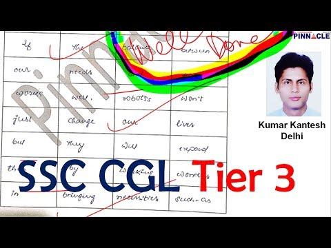 ssc cgl tier 3 descriptive paper code 2802 I how to write essay I letter I writing skills I tips