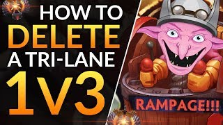 How to SOLO CARRY vs a TRI-LANE: Timbersaw 1v3 LIVE COMMENTARY and Pro Tips | Dota 2 Offlane Guide