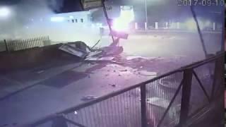 Audi TT S Huge Crash CCTV Sandton South Africa