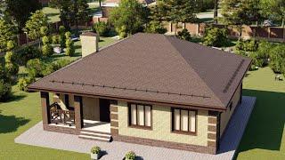 Проект дома 115-F, Площадь дома: 115 м2, Размер дома:  11,5x13,4 м
