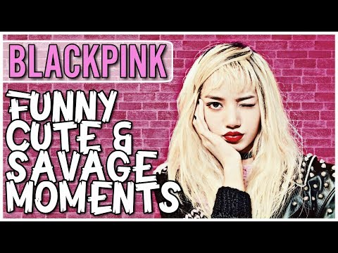 blackpink funny cute and savage moments try not to smile cha