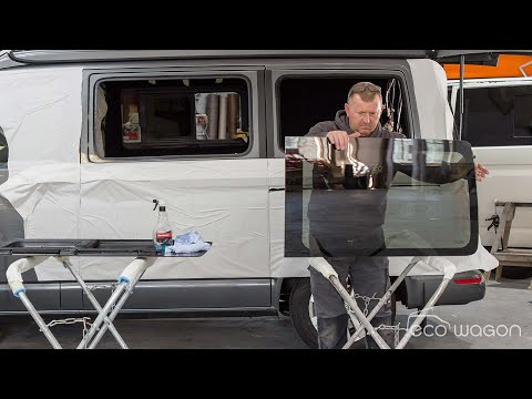 Installation Video of Tinted Opening Windows in a VW T6.1