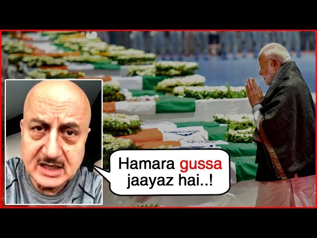 Anupam Kher LATEST ANGRY VIDEO On Pulw@ma Tragedy