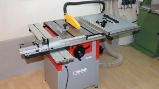 TKS  Tischkreissäge Holzmann TS 250  400 Volt   Unboxing, Overview, Aufbau, Test Und Informationen