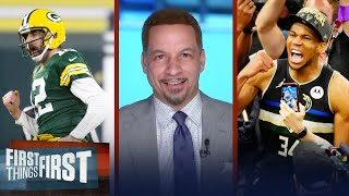 There are 3 huge differences between Rodgers & Giannis —Broussard | NFL | FIRST THINGS FIRST