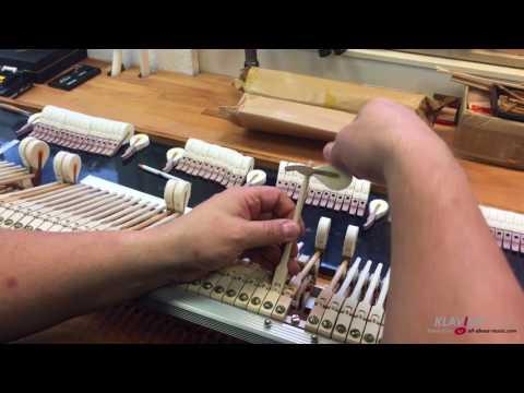 Überarbeitung einer Flügelmechanik - Klavierhaus Rhein-Ruhr