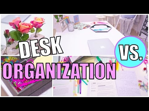 How to clean and organize your desk!