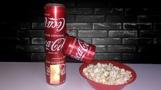 Cómo Hacer una MÁQUINA DE PALOMITAS Casera Muy Fácil Con Latas de Coca-Cola