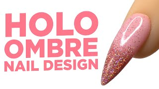 Young Nails Nail Demo - Holo Ombre Nail Design - Gel Nails