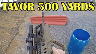 0-500 Yards 3-Gun Match Shooting the Tavor and CZ P-09 [GoPro HERO4 Black 60fps]