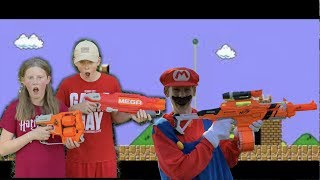Super Mario Nerf Battle
