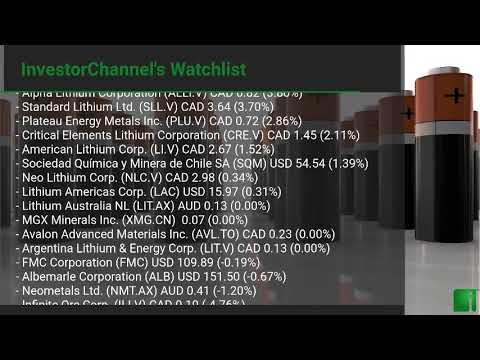 InvestorChannel's Lithium Watchlist Update for Friday, Mar ... Thumbnail