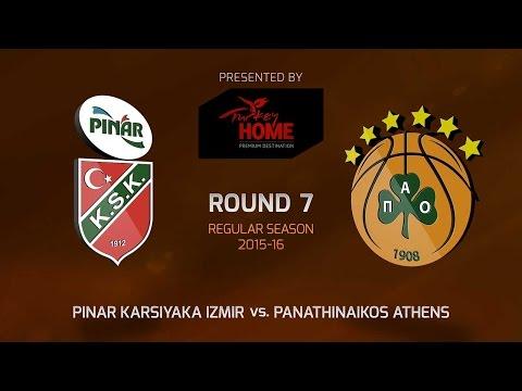 Highlights: RS Round 7, Pinar Karsiyaka Izmir 66-69 Panathinaikos Athens